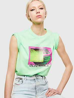 T-JUST-NEON-S1, Green Fluo - T-Shirts