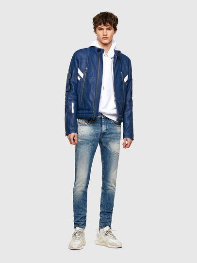 Diesel - L-FULK, Blue - Leather jackets - Image 7