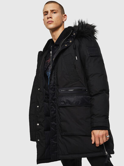 Diesel - W-BULLISK, Black - Winter Jackets - Image 3