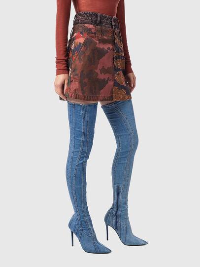 Diesel - O-GIU, Pink/Brown - Skirts - Image 5