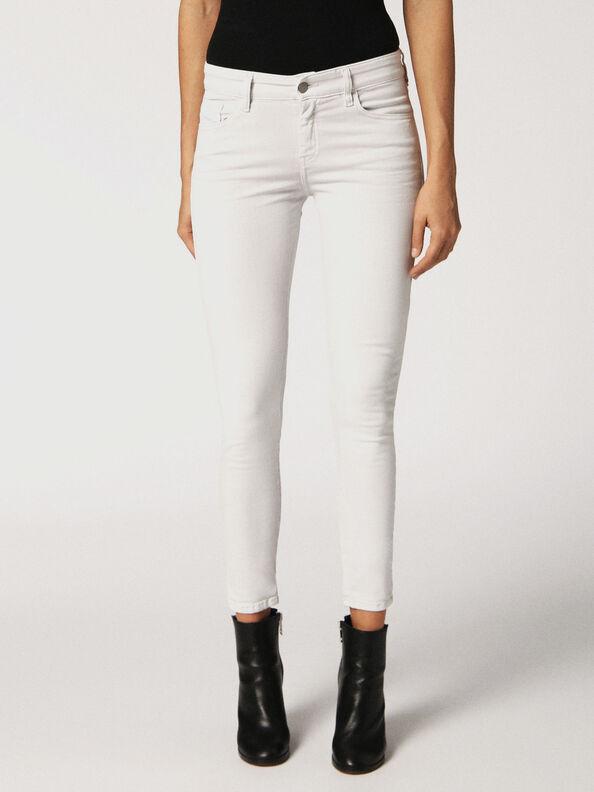 Slandy 084BZ, White Jeans - Jeans