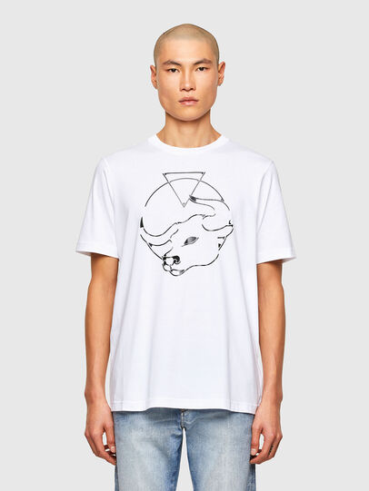 Diesel - CL-T-JUST-O, White - T-Shirts - Image 1