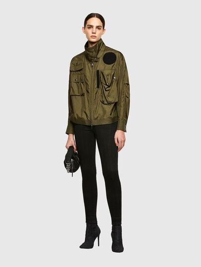 Diesel - C-CORAL, Military Green - Shirts - Image 5