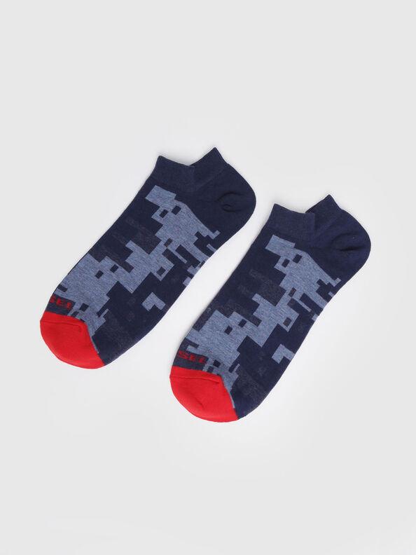 SKM-GOST, Blue/Red - Low-cut socks
