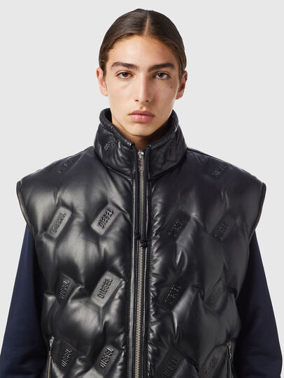 Diesel - L-KUR-THERMO, Black - Leather jackets - Image 3