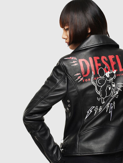 Diesel - CL-L-LYFA-BIGM, Black - Leather jackets - Image 2