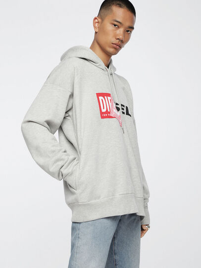 Diesel - S-ALBY, Light Grey - Sweaters - Image 1