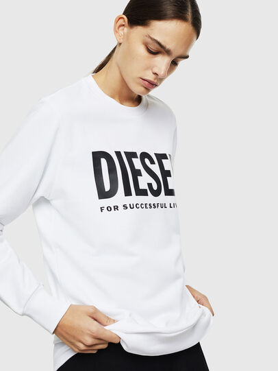 Diesel - S-GIR-DIVISION-LOGO, White - Sweaters - Image 2