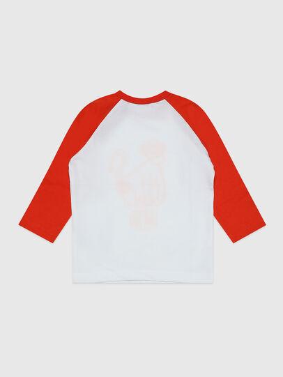 Diesel - TBALYB, White/Orange - T-shirts and Tops - Image 2