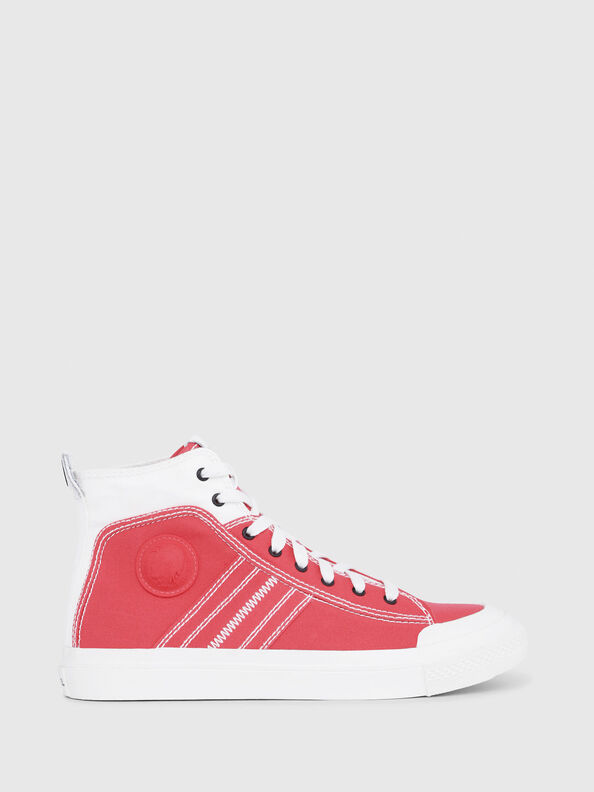 S-ASTICO MID LACE, White/Red - Sneakers