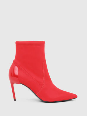 D-SLANTY MABZC, Red - Ankle Boots