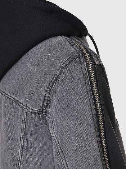 Diesel - L-IVAN, Black - Leather jackets - Image 5