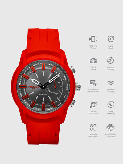 Diesel - DT1016, Red - Smartwatches - Image 1
