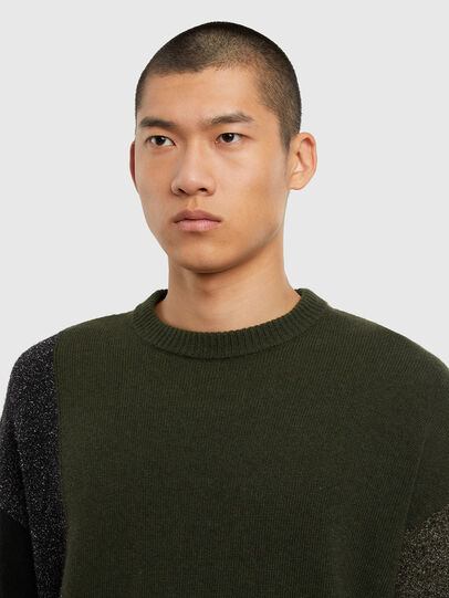 Diesel - K-MOSES, Olive Green - Knitwear - Image 3
