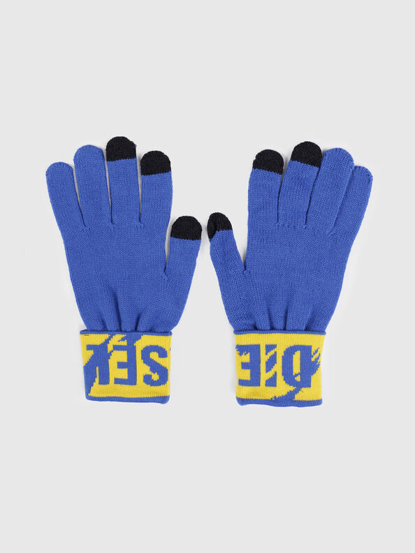 K-SCREEX, Blue/Yellow - Caps, Hats and Gloves