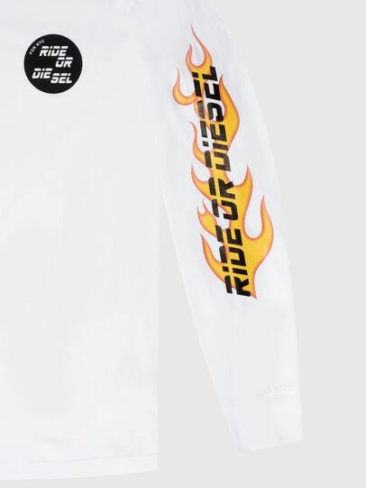 Diesel - US-T-JUST-LS-POP-MAR, White - T-Shirts - Image 3