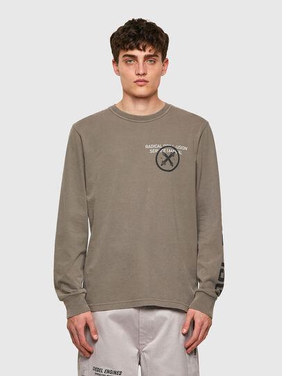 Diesel - T-JUBINDY-LS, Olive Green - T-Shirts - Image 1