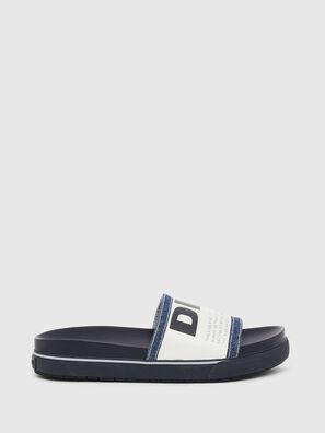 SA-GRAND SLIDE, Blue/White - Slippers