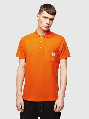T-POLO-WORKY, Orange - Polos