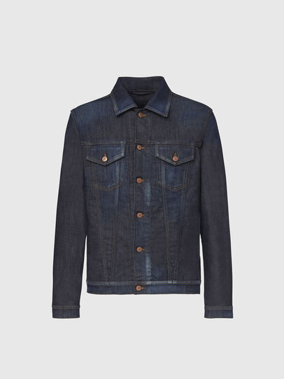 Diesel - NHILL-TW, Dark Blue - Denim Jackets - Image 1