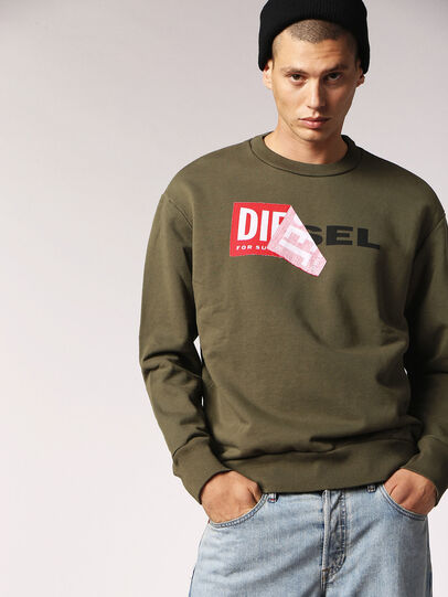Diesel - S-SAMY, Military Green - Sweaters - Image 1