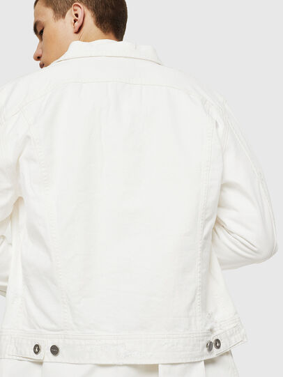 Diesel - D-BRAY, White - Denim Jackets - Image 2