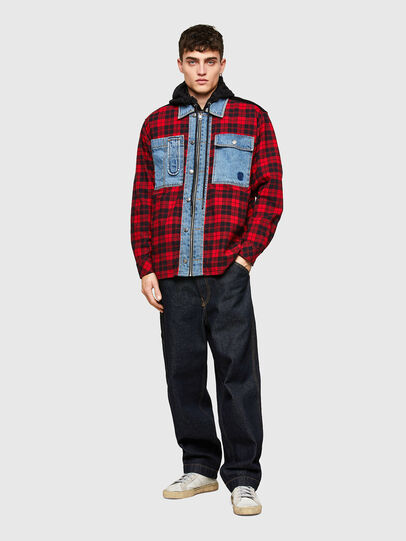 Diesel - S-SERVIN, Red/Blue - Shirts - Image 5