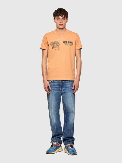 Diesel - T-DIEBIND-B1, Orange - T-Shirts - Image 4