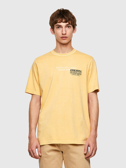 Diesel - T-JUBINDY-B1, Yellow - T-Shirts - Image 1