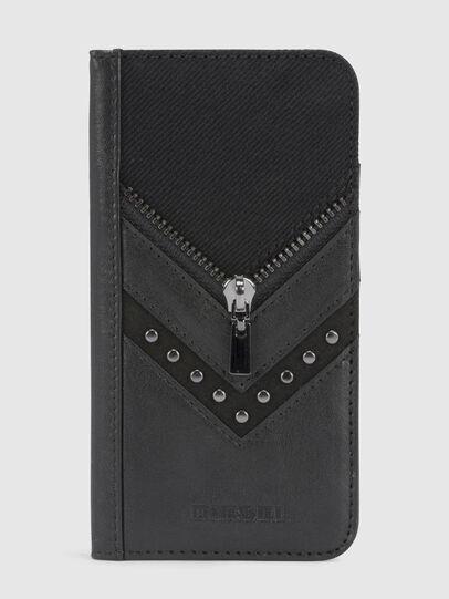 Diesel - BLACK DENIM/STUD/ZIPPER IPHONE 8/7 FOLIO,  - Flip covers - Image 2