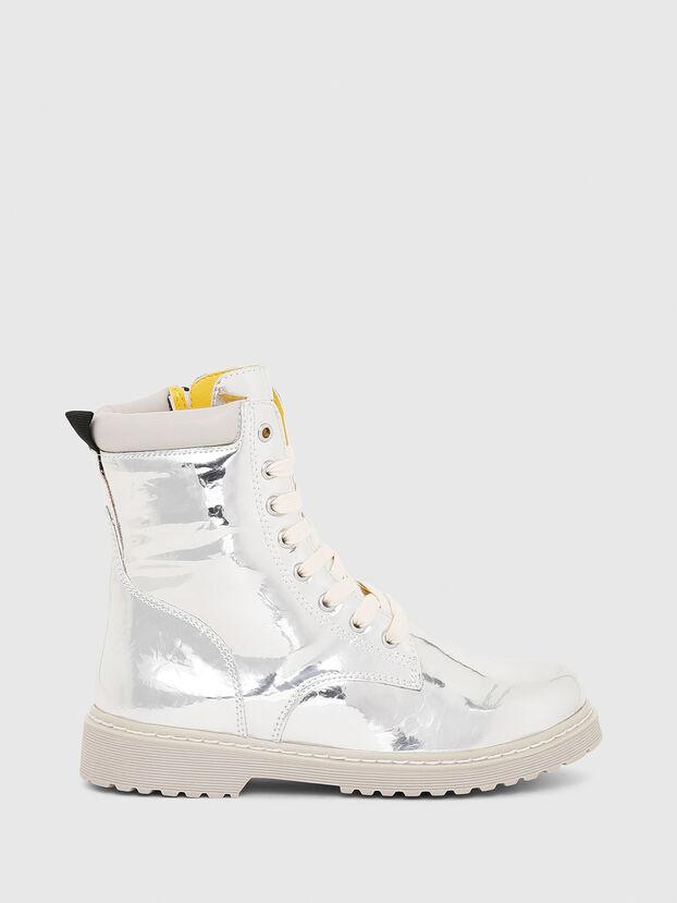 HB LACE UP 04 YO, Silver - Footwear