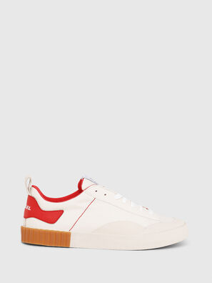 S-BULLY LC, White/Red - Sneakers