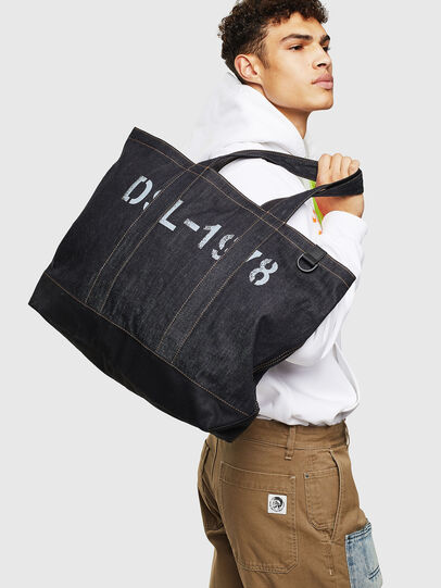 Diesel - D-THISBAG SHOP M, Blue - Shopping and Shoulder Bags - Image 7