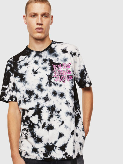 Diesel - T-JUST-J23, Black/White - T-Shirts - Image 1