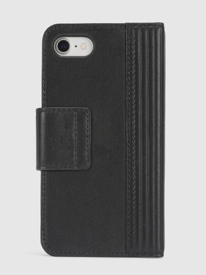Diesel - BLACK LINED LEATHER IPHONE 8/7 FOLIO,  - Flip covers - Image 4
