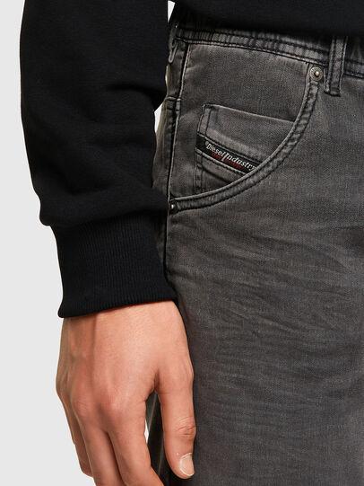 Diesel - D-KROOSHORT JOGGJEANS, Black - Shorts - Image 4