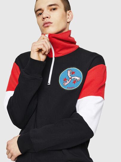 Diesel - S-LEONID, Black/Red - Sweaters - Image 4