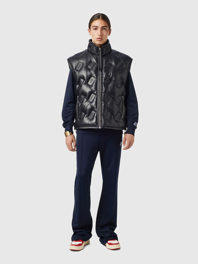 Diesel - L-KUR-THERMO, Black - Leather jackets - Image 4