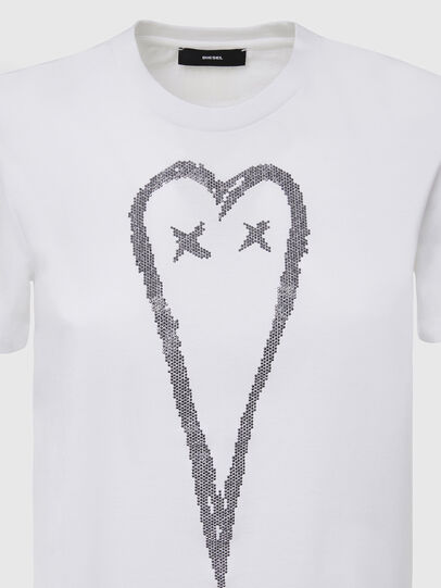 Diesel - T-SILY-E53, White - T-Shirts - Image 3