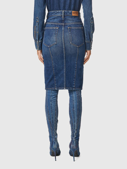 Diesel - DE-PENCIL-ZIP, Medium blue - Skirts - Image 2