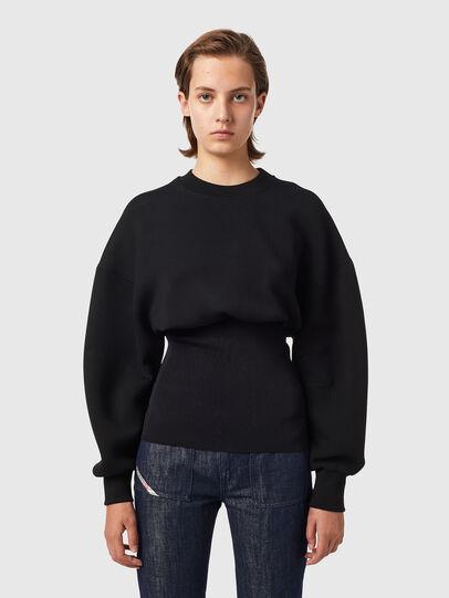 Diesel - F-BELTANA, Black - Sweaters - Image 1