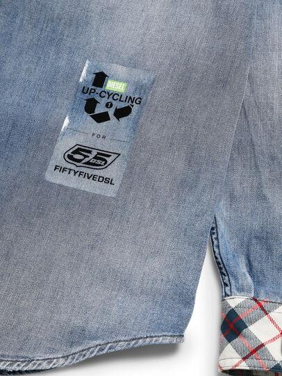 Diesel - D-DEEPCHECK-A, Light Blue - Denim Shirts - Image 6