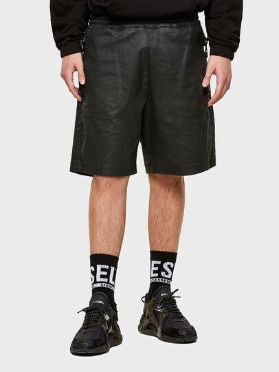 Diesel - D-HORTY-SP JOGGJEANS, Black - Shorts - Image 1