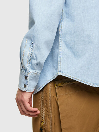 Diesel - D-EAST-P1, Light Blue - Denim Shirts - Image 3