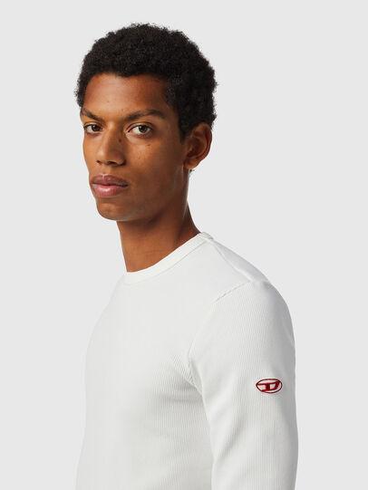 Diesel - D-RIBBER-LS, White - T-Shirts - Image 5