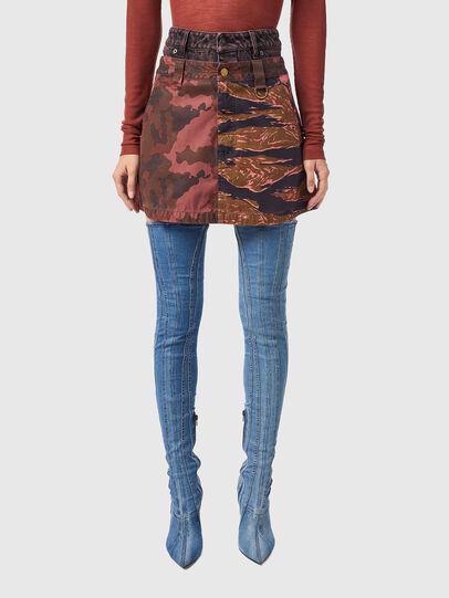 Diesel - O-GIU, Pink/Brown - Skirts - Image 1