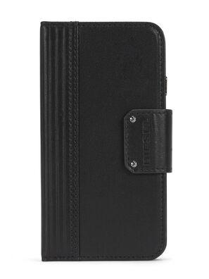 BLACK LINED LEATHER IPHONE 8 PLUS/7 PLUS FOLIO, Black - Flip covers