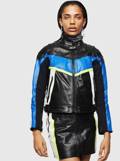 Diesel - ASTARS-LQUATTRO, Black - Leather jackets - Image 1
