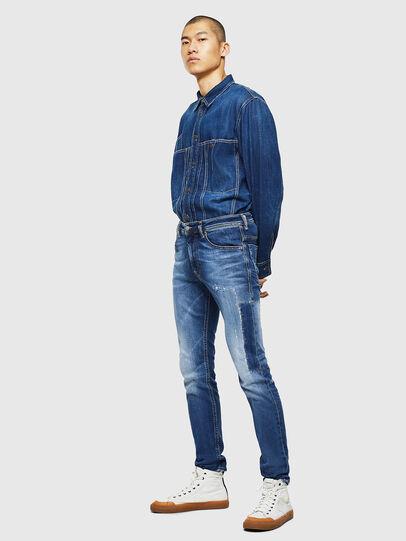 Diesel - Thommer 0097W, Dark Blue - Jeans - Image 6
