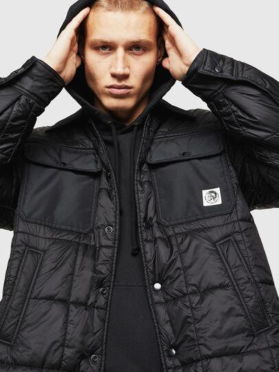 Diesel - J-WELLES, Black - Winter Jackets - Image 4